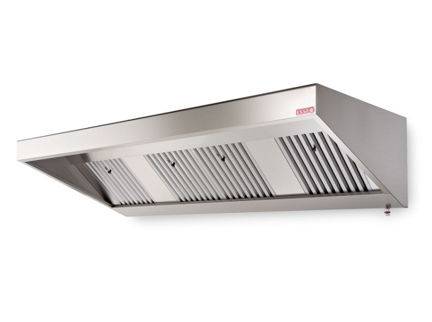 Stainless steel extractor hoods for professional kitchens
