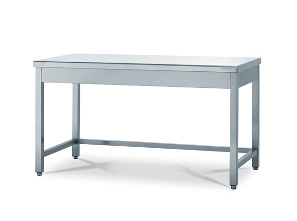 Work tables on legs for bakery